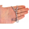 "Womens Diamond Leaf Y Shape Drop Necklace 14K White Gold 16"""