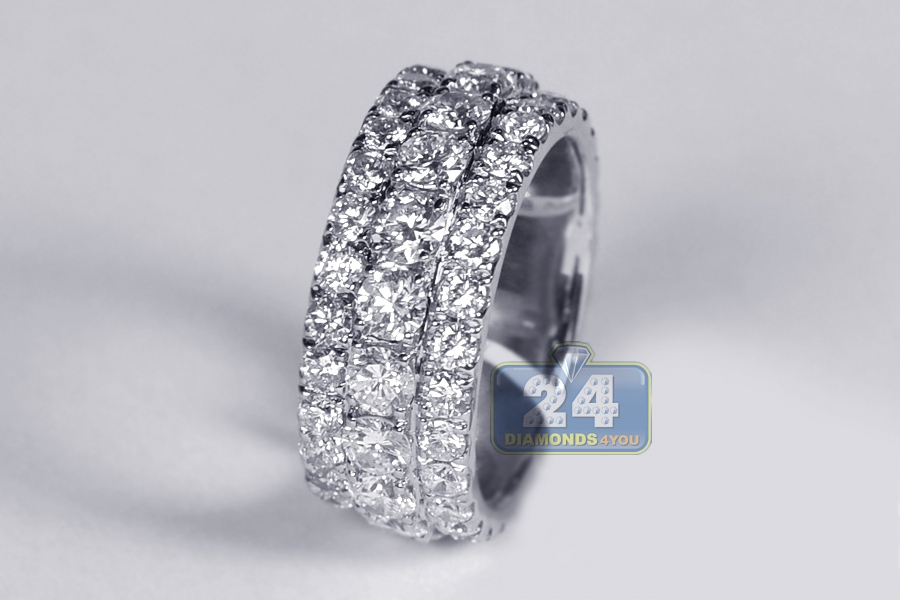 image carat eternity ring row diamond bands wedding band half gold broad white