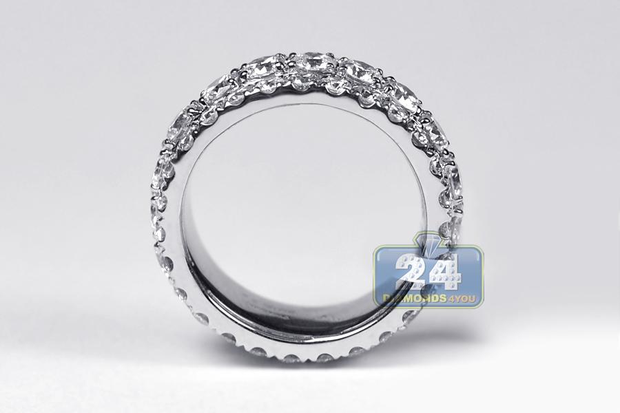 mens eternity band ring 14k white gold 5 75 ct 10 mm