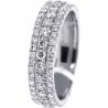 14K White Gold 2.65 ct Diamond Wedding Eternity Ring 6 mm