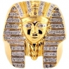 10K Yellow Gold 0.31 ct Diamond Pharaoh Men's Ring