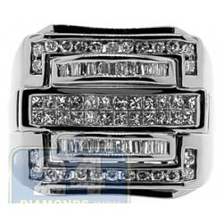 Black 14K Gold 1.36 ct Diamond Mens Large Signet Ring