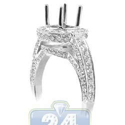18K White Gold 1.00 ct Diamond Engagement Ring Semi Mount