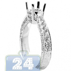 18K White Gold 1.09 ct Diamond Engagement Ring Setting