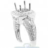 18K White Gold 1.07 ct Diamond Semi Mount Engagement Ring Setting
