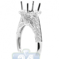 18K White Gold 1.06 ct Diamond Semi Mount Setting Engagement Ring