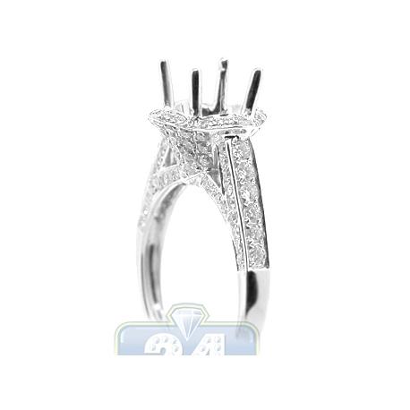 18K White Gold 1.06 ct Diamond Semi Mount Setting Engagement Ring