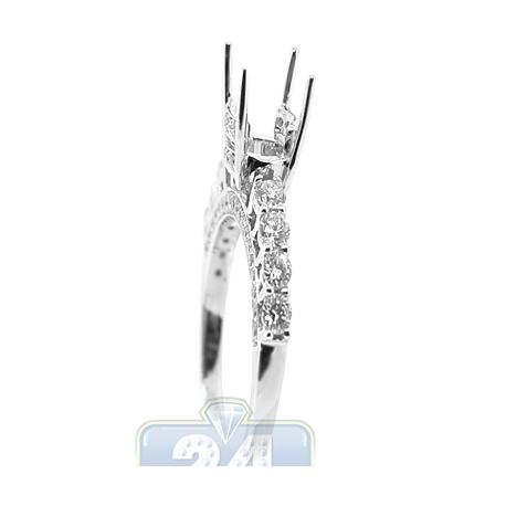18K White Gold 1.05 ct Diamond Semi Mount Engagement Ring Setting