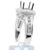 18K White Gold 1.03 ct Diamond Semi Mount Setting Womens Engagement Ring
