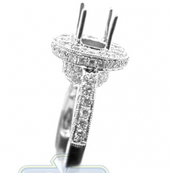 18K White Gold 1.30 ct F VS1 Diamond Semi Mount Engagement Setting