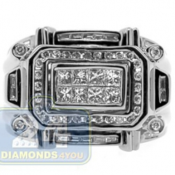 Black PVD 14K Gold 1.15 ct Mixed Diamond Mens Ring
