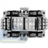 Black 14K White Gold 1.60 ct Round Princess Cut Diamond Mens Ring