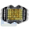 Black 14K Gold 1.34 ct Yellow Princess Cut Diamond Mens Ring