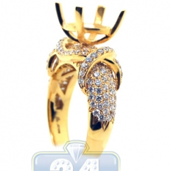 18K Yellow Gold 1.55 ct Diamond Engagement Ring Semi Mount