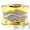 18K Yellow Gold 0.30 ct Diamond Wave Womens Band Ring