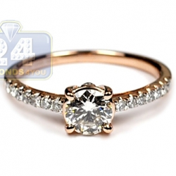 14K Rose Gold 1.00 ct Diamond Womens Engagement Ring