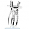 18K White Gold 1.11 ct Diamond Engagement Semi Mount Setting