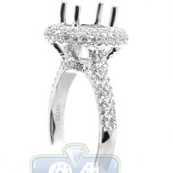 18K White Gold 1.06 ct Diamond Engagement Ring Setting