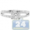 18K White Gold 1.13 ct Diamond Cluster Womens Engagement Ring