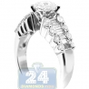18K White Gold 1.30 ct Diamond Womens Engagement Ring