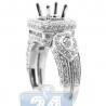 18K White Gold 1.30 ct Diamond Semi Mount Engagement Setting Ring
