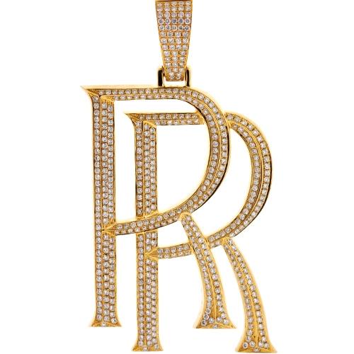 Diamond rolls royce rr logo pendant 10k yellow gold 566 ct mens diamond rolls royce rr logo pendant 10k yellow gold 566 ct aloadofball Choice Image