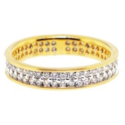 14K Yellow Gold 1.21 ct All Way Diamond Womens Eternity Ring Band