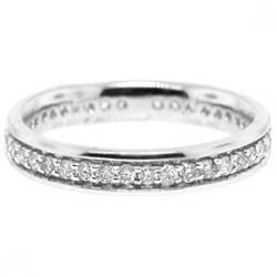 14K White Gold 0.69 ct All Way Diamond Womens Eternity Ring