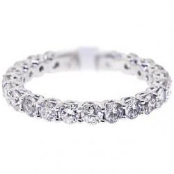 14K White Gold 2.20 ct All Way Around Diamond Eternity Ring