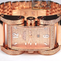 Aqua Master Bycicle 4.35 ct Diamond Mens Rose Gold Watch