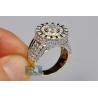 14K Yellow Gold 4.04 ct Diamond Cluster Men's Ring