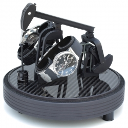 Kunstwinder Carbon Fiber Matte Black Double Watch Winder