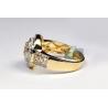 10K Yellow Gold 1.42 ct Diamond Cluster Round Halo Ring