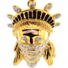 10K Yellow Gold 0.25 ct Diamond Statue of Liberty Gangsta Pendant