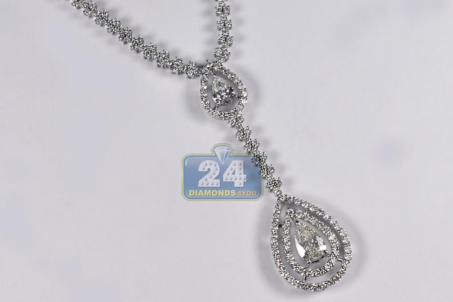 Ct White Gold Diamond Pendant