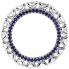 18K White Gold 4.02 ct Diamond Sapphire Eternity Band Ring