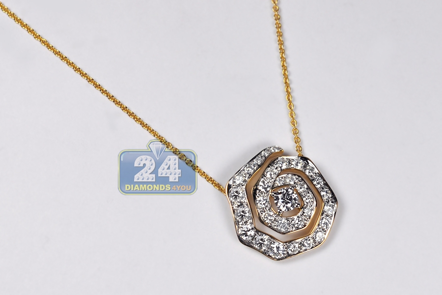 Womens Diamond Evil Eye Pendant Necklace 14k Yellow Gold 1