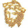 10K Yellow Gold 0.48 ct Diamond Jesus Christ Open Pendant