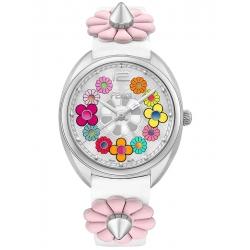 Fendi Momento Floral White Leather Strap Watch F234034041