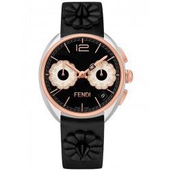 Fendi Momento Floral Chronograph Two Tone Watch F235211411