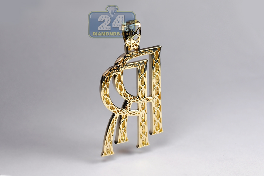 Rolls Royce Pendant Mens Solid 10k Yellow Gold Rolls Royce Key Diamond Pendant 14k Yellow Gold