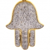 10K Yellow Gold Diamond Hamsa Hand of God Small Pendant