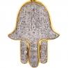 10K Yellow Gold Diamond Hamsa Hand of God Medium Pendant