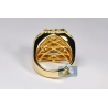 14K Yellow Gold 3.40 ct Diamond Crown Style Mens Ring