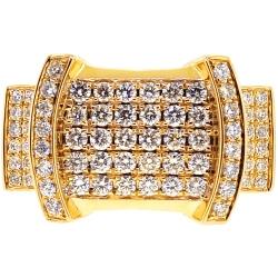 14K Yellow Gold 2.00 ct Diamond Pinky Ring for Men