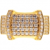 14K Yellow Gold 2.00 ct Diamond Pinky Ring for Men
