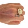 14K Yellow Gold 2.85 ct Diamond Signet Ring for Men