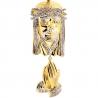 10K Yellow Gold 0.40 ct Diamond Jesus Praying Hands Pendant