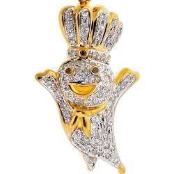10K Yellow Gold 0.44 ct Diamond Poppin Fresh Pendant