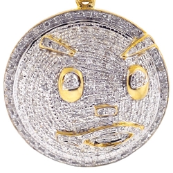Mens Diamond Chief Keef Blood Money Pendant 10K Yellow Gold